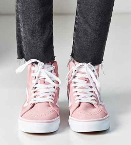VANS Low-Top a cute pink popular VANS Sk8-Hi Slim 4