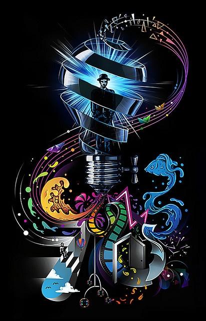 """""""New Idea"""" , made by: Enkel Dika  - (Lightbulb) #artwork http://www.pinterest.com/TheHitman14/artwork/"""