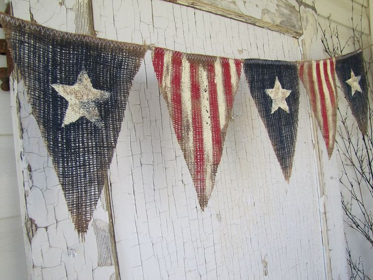 Size MED. Primitive Olde American Flag Patriotic by funkyshique