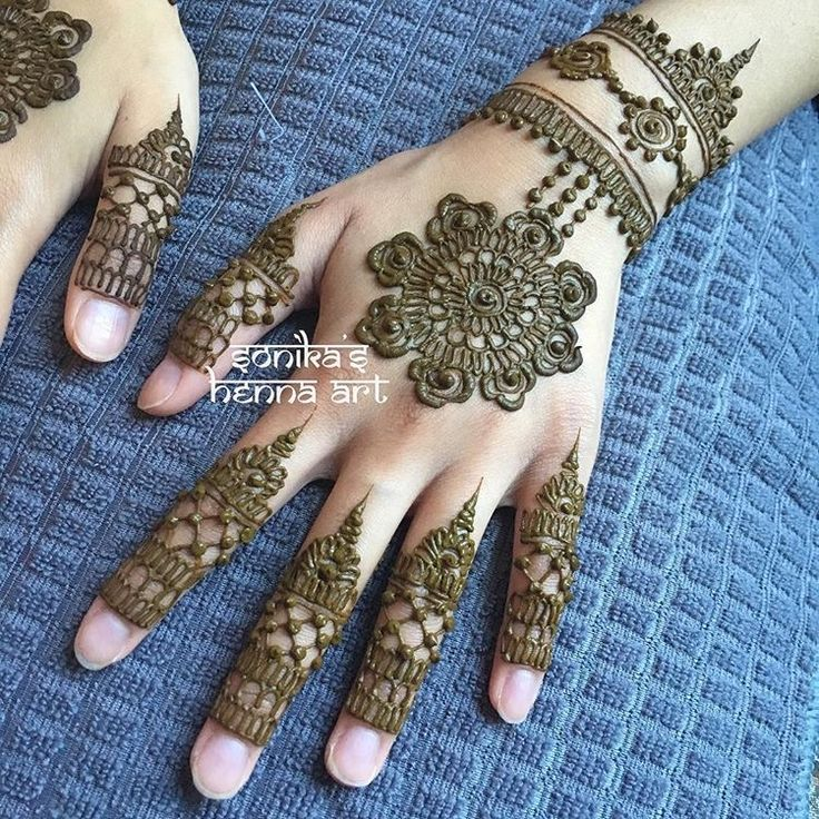 Intricate Henna Designs: Beautiful Non-bridal Mandala Design With Intricate Fingers