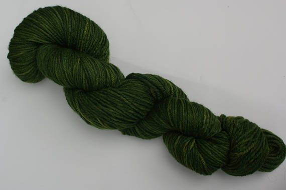 SPRING GREEN INDIGO  Indigo and Onion Skin dyed New Merino