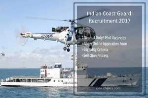 Indian Coast Guard Recruitment 2017 General Duty/ Pilot- Apply Online 2nd July