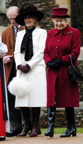 The Countess of Wessex and the Queen-check out the Queen's boots!