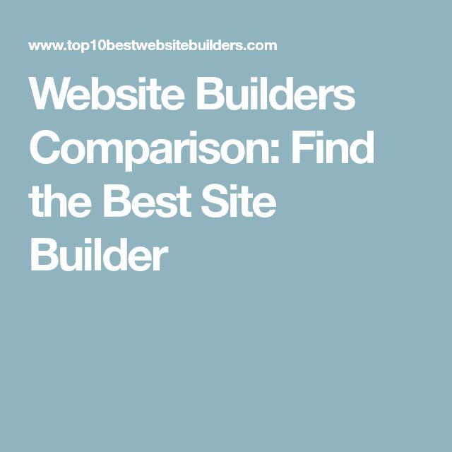 Website Builders Comparison: Find the Best Site Builder