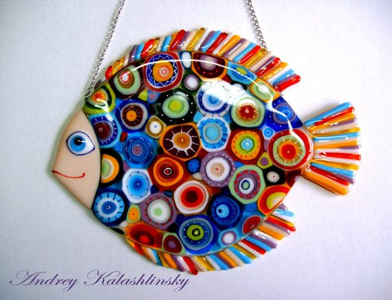 Fused Glass Wall Art Fused Glass Art Glass Art by Kalashlinsky
