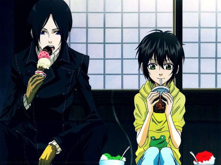 Nabari No Ou Miharu And Yoite Kiss 17 Best images about N...
