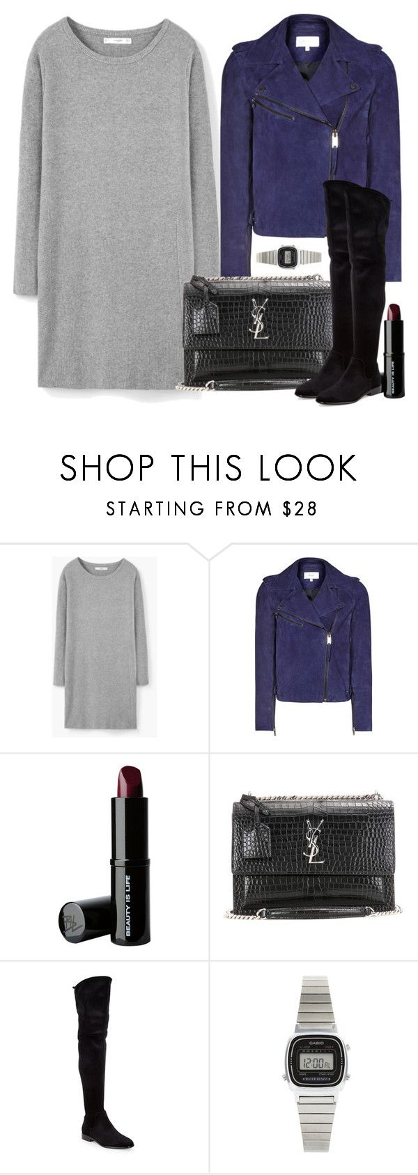 """""""Sem título #5175"""" by beatrizvilar ❤ liked on Polyvore featuring MANGO, Reiss, Beauty Is Life, Yves Saint Laurent, Donna Karan and Casio"""
