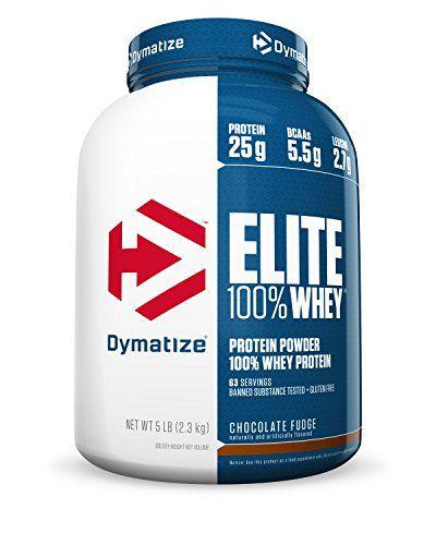 Dymatize Elite 100% Whey Protein, Chocolate Fudge, 5 lbs