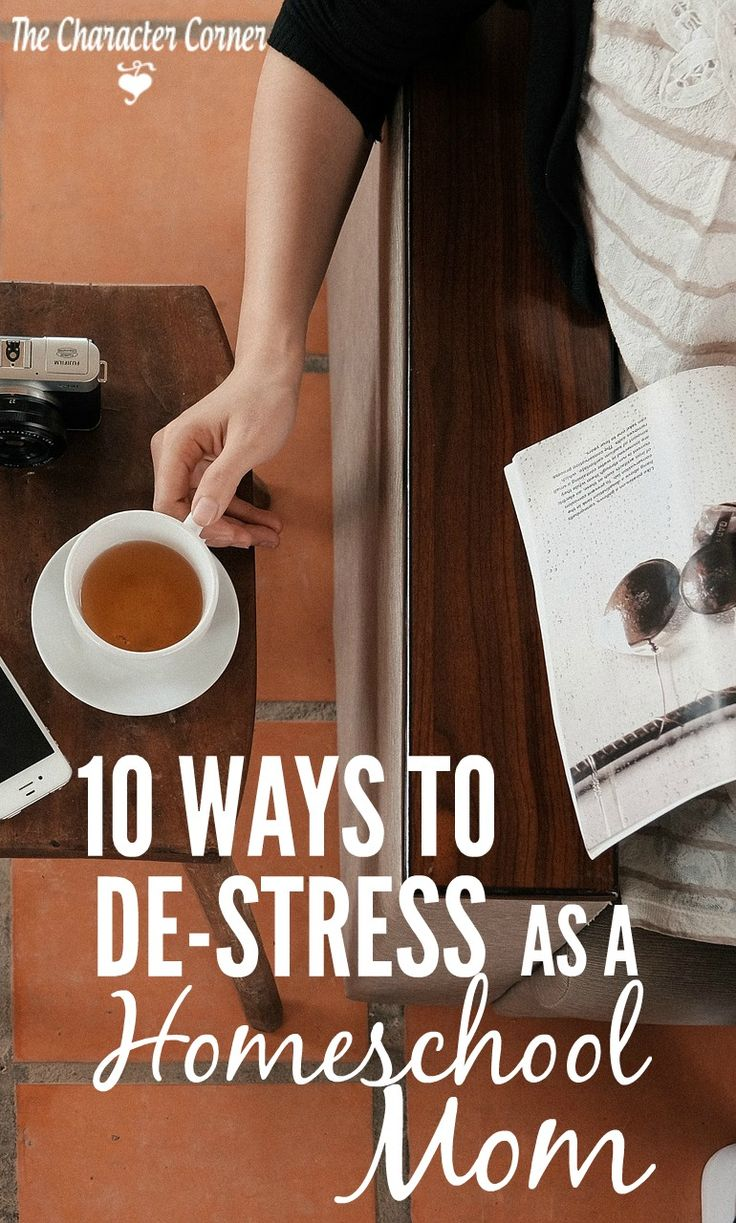 Sometimes as busy homeschooling moms, we just need to take a break and de-stress! We all have those times where we're stressed out with the crazy, busy life we have. Check out these 10 ways to de-stress and refresh.