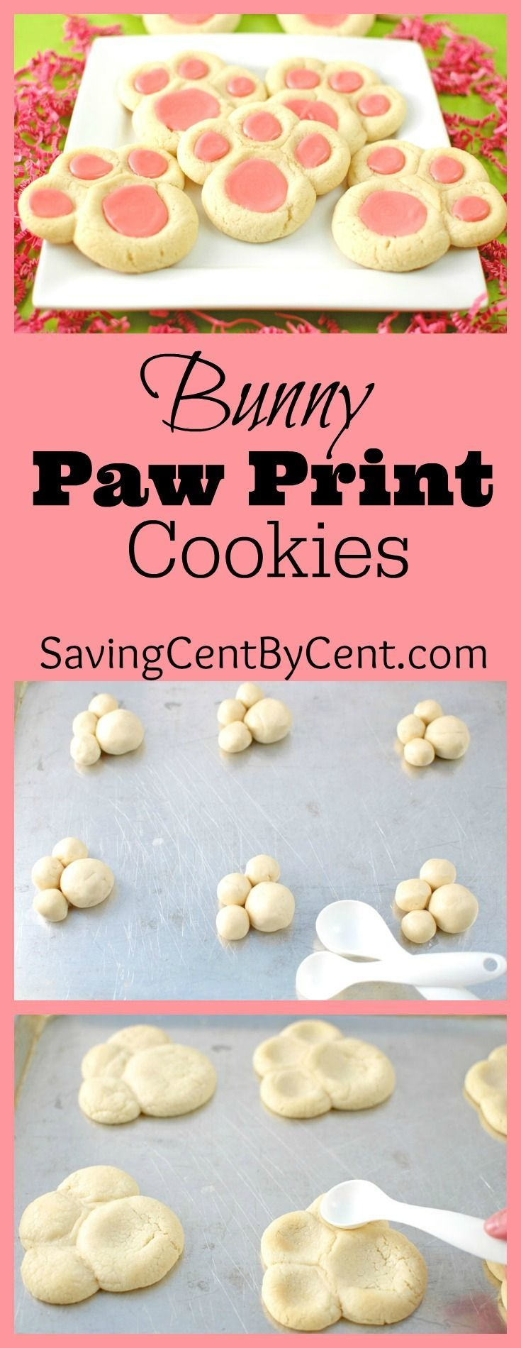 Food faith amp design thanksgiving goodies - Bunny Paw Prints Cookies For Easter