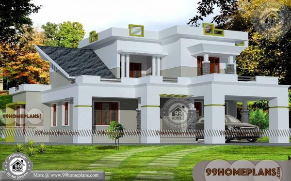 2500 Sq Ft House Plans Kerala Low Economy Two Floor Modern Designs New House Plans House Plans Garage House Plans
