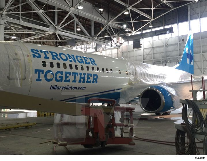 Hillary Clinton -- Facelift Time for Her Campaign Plane (PHOTO) - http://blog.clairepeetz.com/hillary-clinton-facelift-time-for-her-campaign-plane-photo/