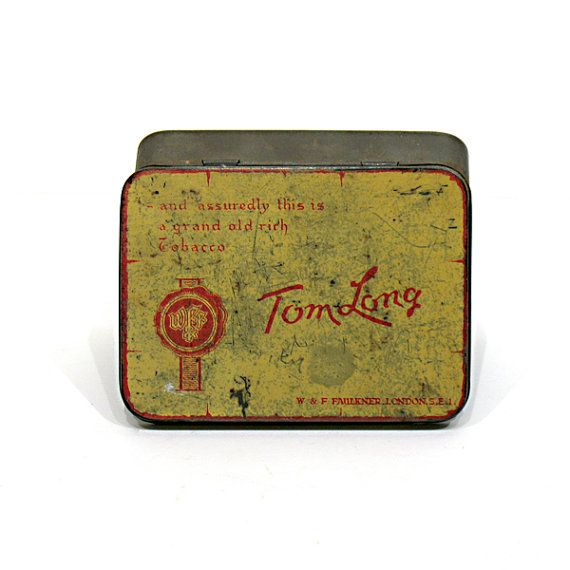 Vintage Tobacco Tin  Tom Long Tin  Advertising  by OnlyCoolStuff, $15.00