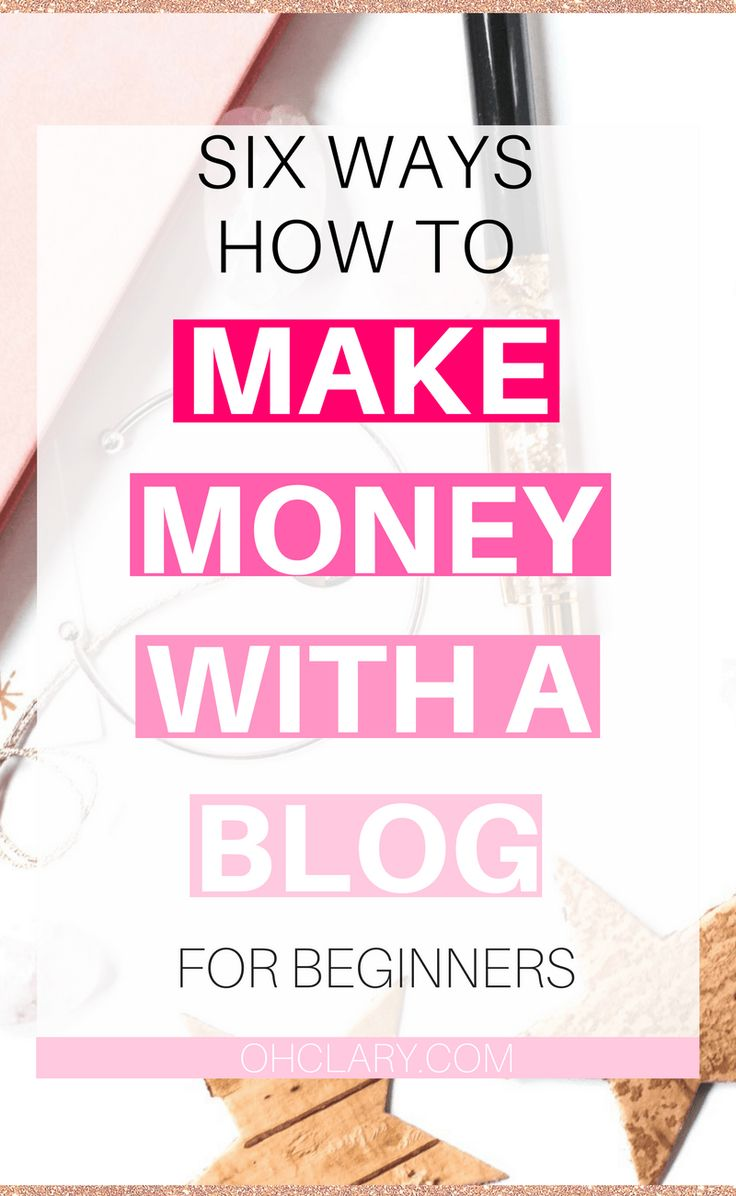 Are you looking for ways to make money with a blog? I have listed 6 awesome ways to make money blogging for beginners! Anyone can make money with a blog, you just need to know how! I started to make money blogging on my first week with this blog and I am going to share my tips on how you can too! How to make money blogging fast   Passive income from blog   affiliate marketing   first month blogging   make money blogging passive income
