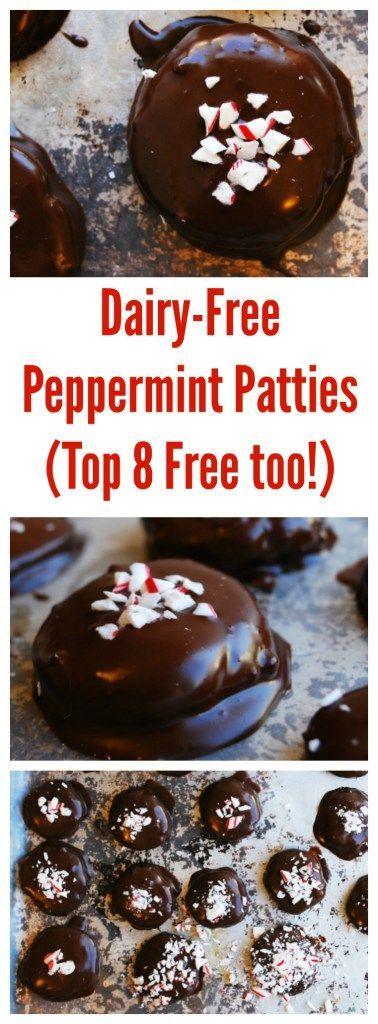 Dairy-Free Peppermint Patties (Gluten, dairy, egg, soy, peanut & tree nut free; top 8 free; vegan)