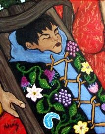 Tikinogan - a painting by native artist Nokomis.