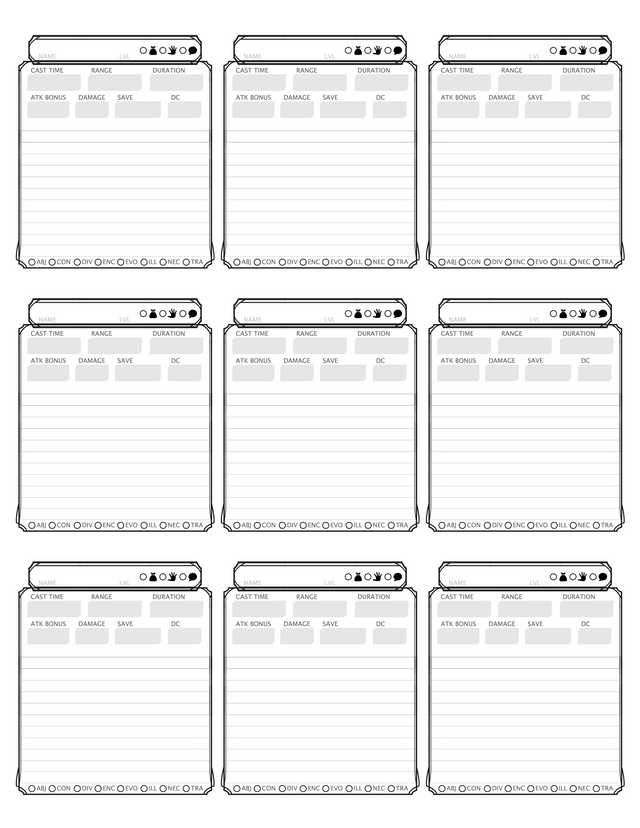 D D Spell Cards Dungeons And Dragons Game Dnd Spell Cards Dnd Character Sheet