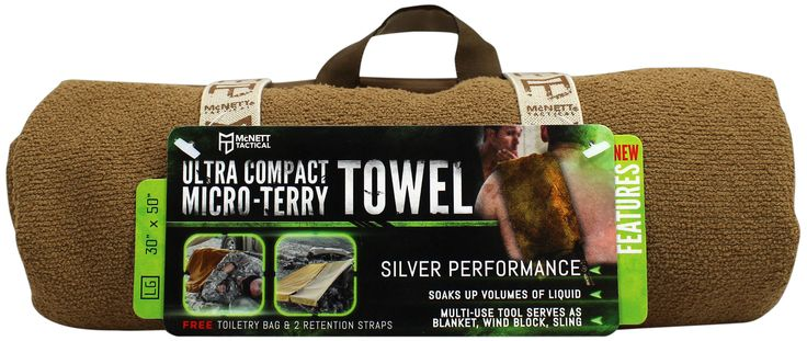 Ultra Compact Micro-Terry Towel. Super Absorbent Towel, Dries Fast - McNett Tactical