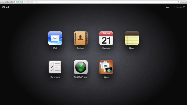 iCloud Home Screen web