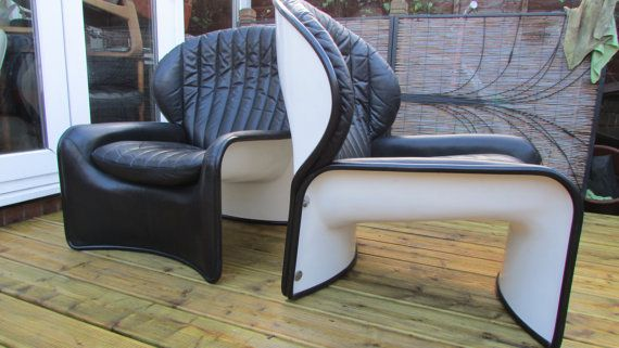 Stunning pair of leather armchairs by Strassle by MidCenturyQuirky
