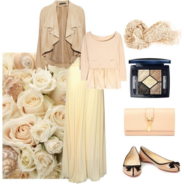 """neutral hijab"" by strawberrymuslimah on Polyvore"
