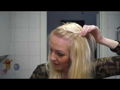 Enkel snygg inbakad fläta i luggen - pasmallen.nu - YouTube