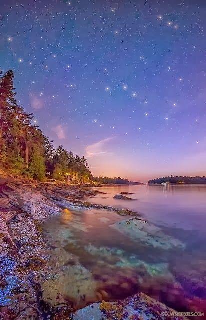 Starry, Starry Night at Galiano Island, British Columbia, Canada