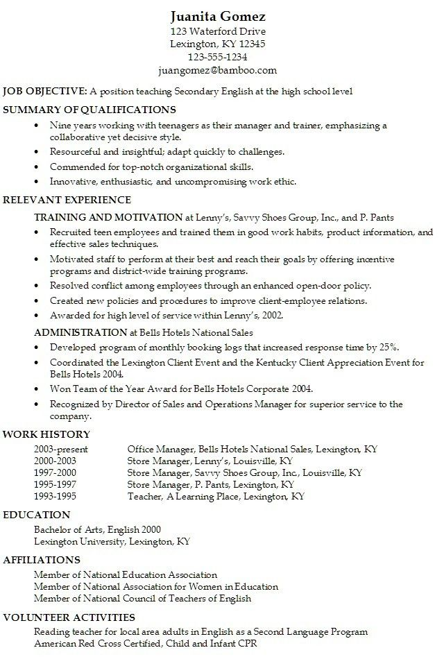 Resume Examples For Teens | Resume Examples And Free Resume Builder