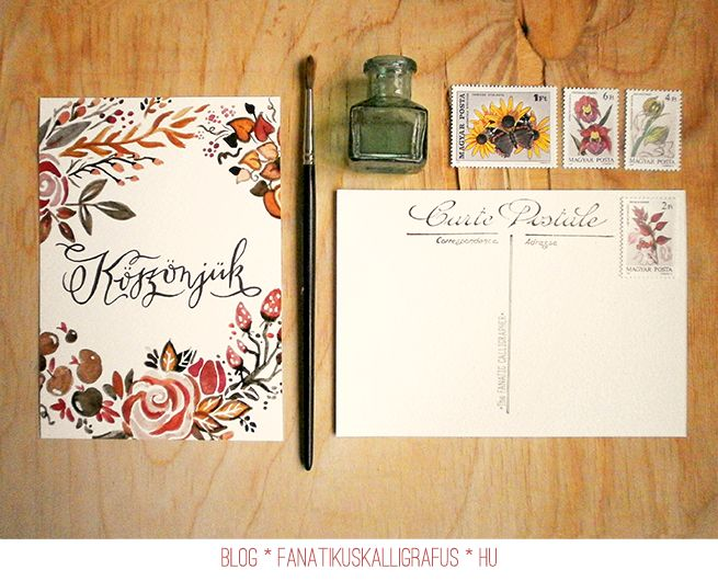 Watercolour and calligraphy wedding invitation by The Fanatic Calligrapher