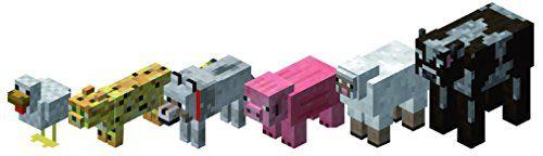 Coffret 6 animaux figurines #Minecraft