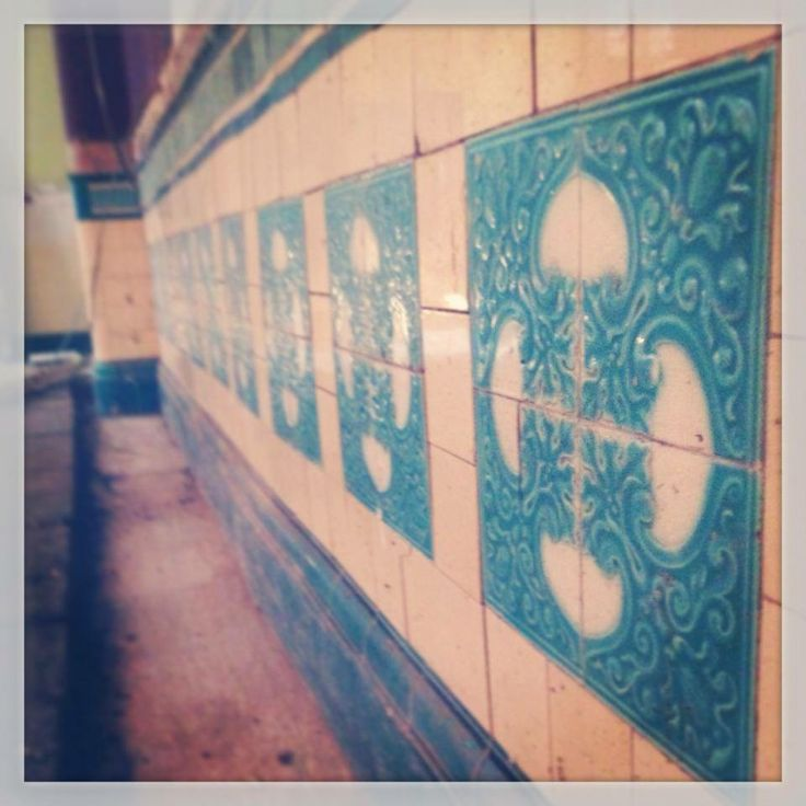 Day 4 of the refurbishment, the boards have been removed to reveal the beautiful old tiles  :D