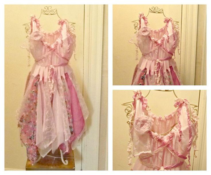 Sassafras Birthday Dress Girls Party Fairy Corset Pink by SavoyFaire on Etsy