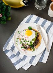 Huevos rancheros with avocado salsa verde - cookieandkate.com