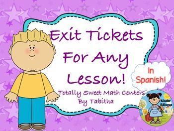 Exit tickets in Spanish (Boletos de Salida)