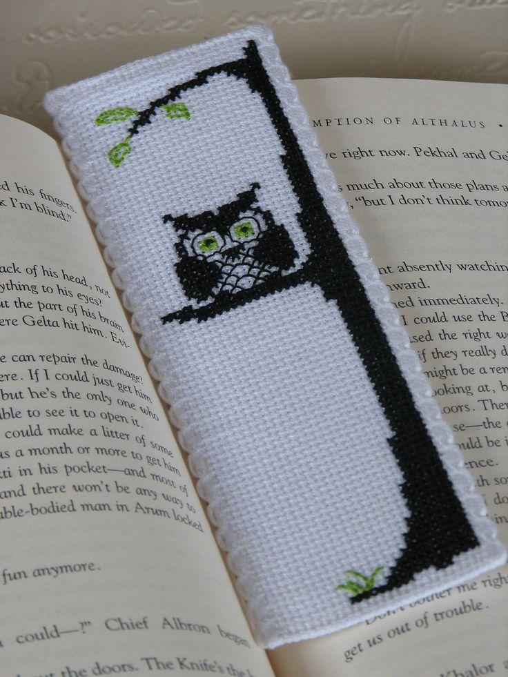 Bookmark Cross Stitch Pattern: Owl Be by stageappealcrafts on Etsy