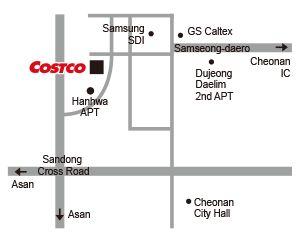 Directions to Cheonan Costco