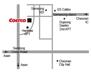 Directions to Cheonan Costco