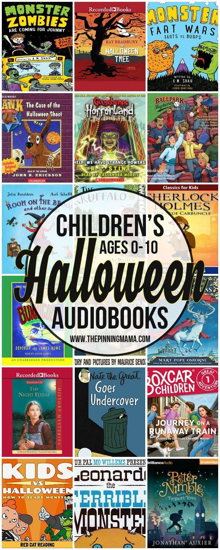 Halloween Books for Kids ages 0-10 #sponsored #halloween #kids #audiobooks