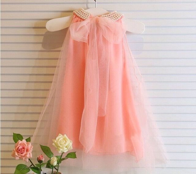 baby girls dress sleeveless dot white pink lace princess dress
