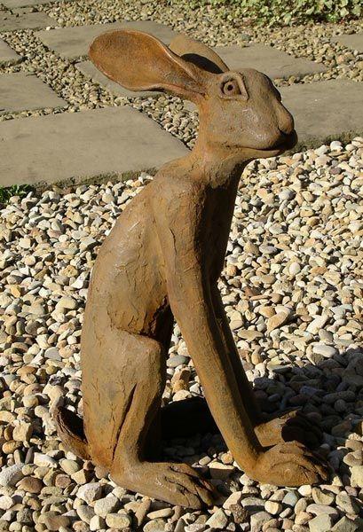 Iron Resin Hare - Nigel & Libby Ceramics