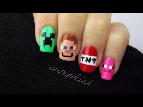 Minecraft Nail Art | Nerd Nail Series - YouTube
