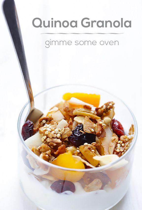 Quinoa Granola Recipe | gimmesomeoven.com