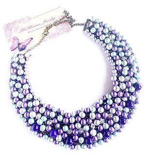 FloFlorinaJewelry: Colier statement perle argintii si mov