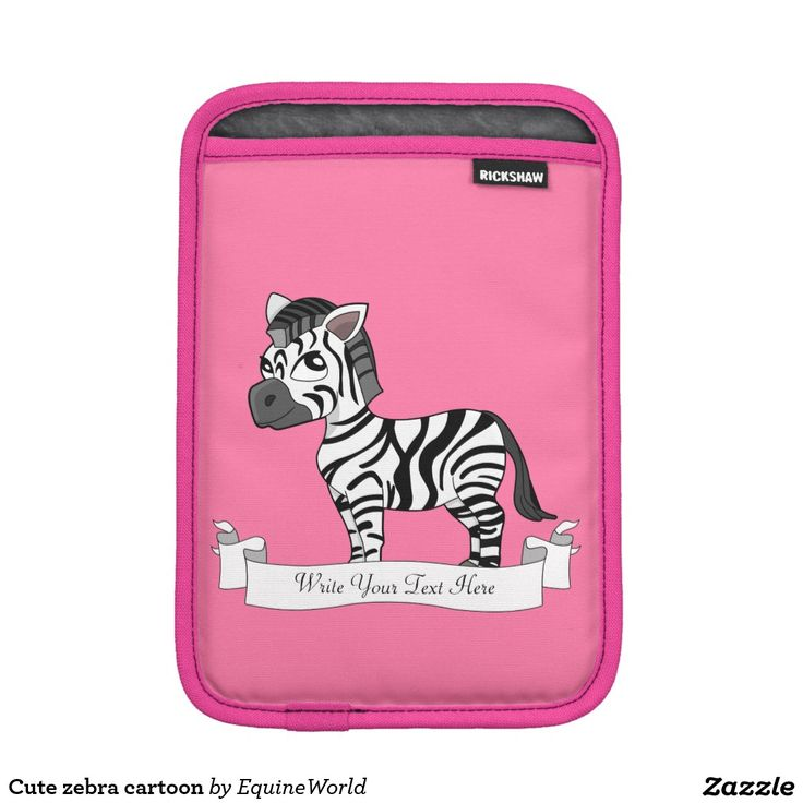 Cute zebra cartoon iPad mini sleeve