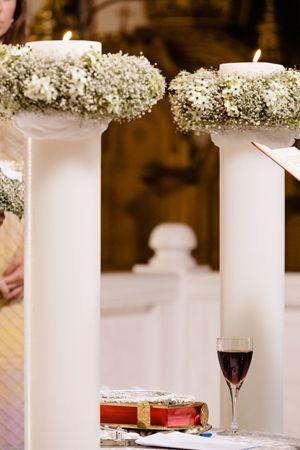 Chic wedding in Santorini Island - wedding candles   S. Kokkinos (Kokkinos flowers)