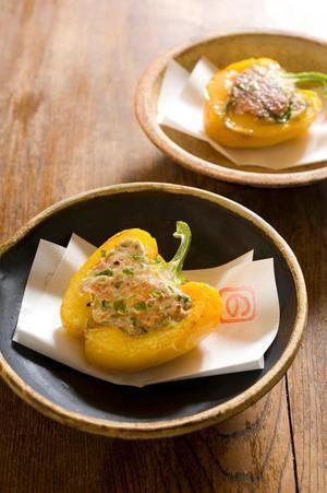 パプリカの肉詰め焼き | 明峯牧夫さんのレシピ【オレンジページnet ...