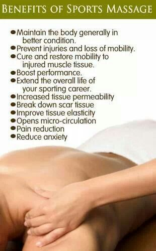 Benefit of sports massage