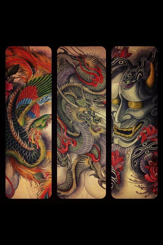 Japanese tattoos with dragons