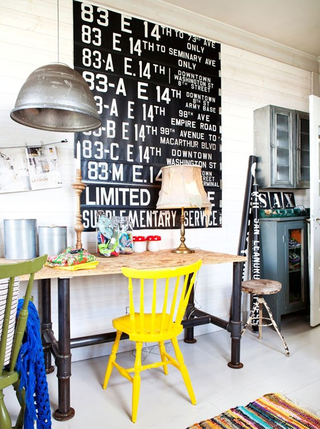 my scandinavian home: A romantic-industrial Swedish studio