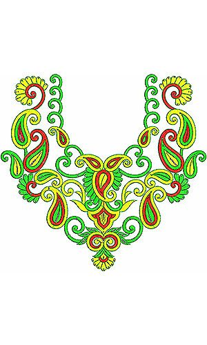 Flapper Dress Beautiful Neck Yoke Gala Embroidery Design
